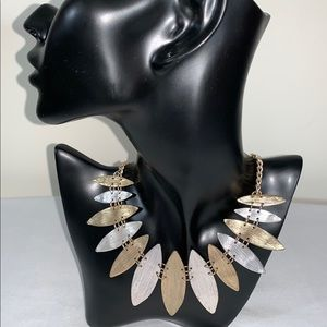 Jewelry - Two -Toned Leaf Necklace